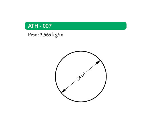 Perfis de Alumínio Maciço ATH-007