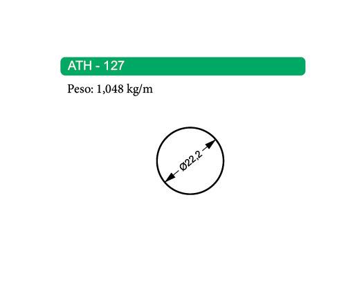 Perfis de Alumínio Maciço ATH-127