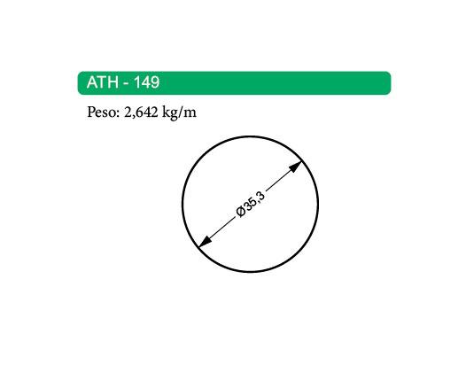 Perfis de Alumínio Maciço ATH-149
