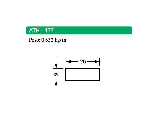 Perfis de Alumínio Maciço ATH-177