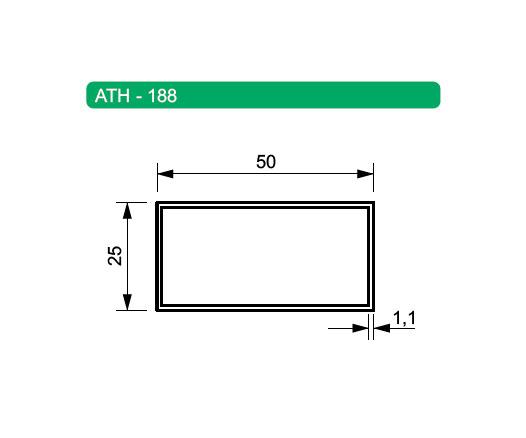 Tubos de Alumínio Retangulares ATH-188