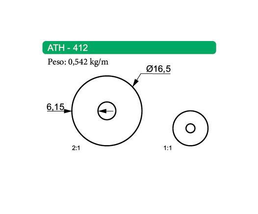 Tubo de Alumínio Redondo ATH-412