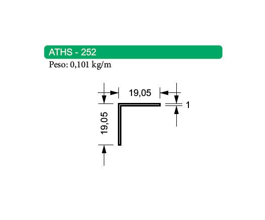 Cantoneira de Alumínio - ATHS-252