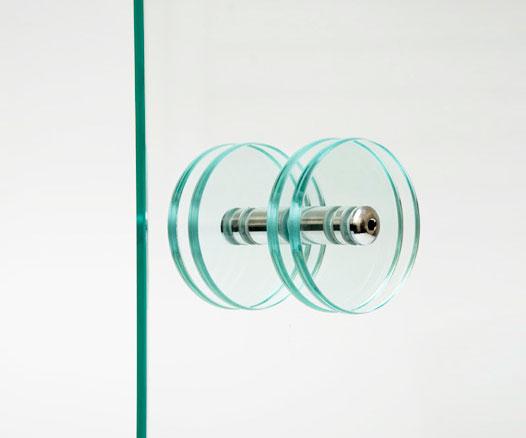 Puxador Duplo para Porta em Vidro