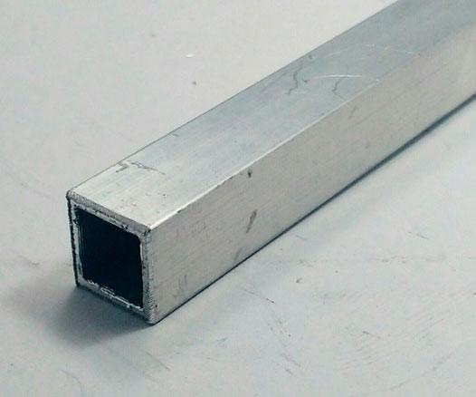 tubos quadrado de aluminio